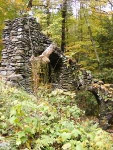 "Madame Sheri's ""castle,"" near the trailhead in Chesterfield"