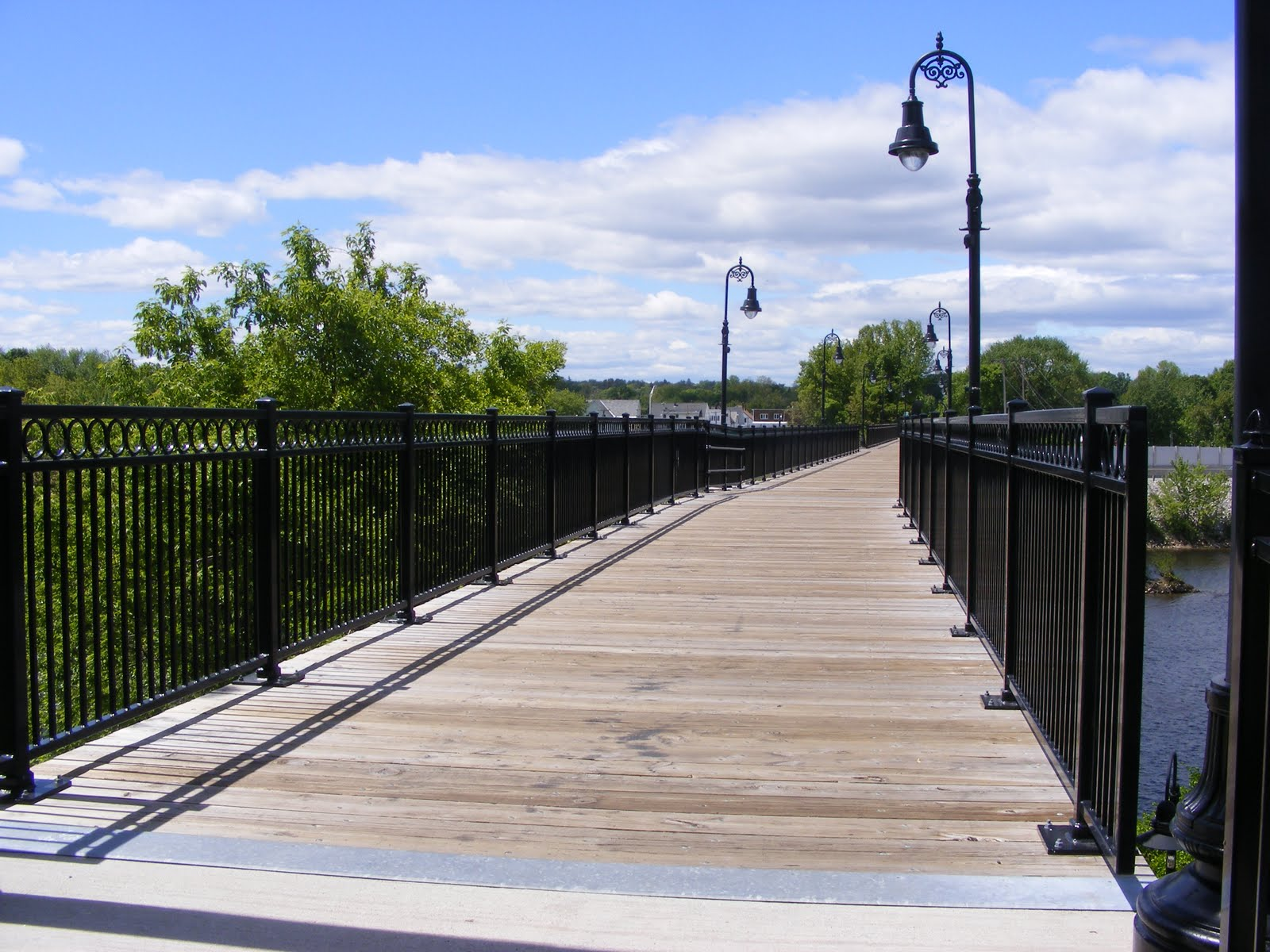 rail trail bridge over Merrimack River in Manchester New Hampshire