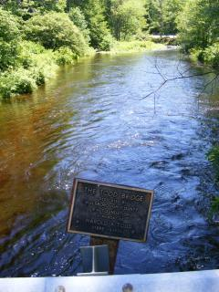 Piscataquog River, South Branch; bridge at entrance to 4-H Fairgrounds