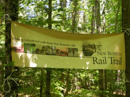 I love this banner at the trailhead.
