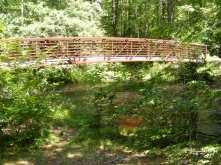 footbridge New Boston Rail Trail NH