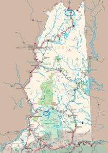 Great North Woods, New Hampshire (NHDOT map)