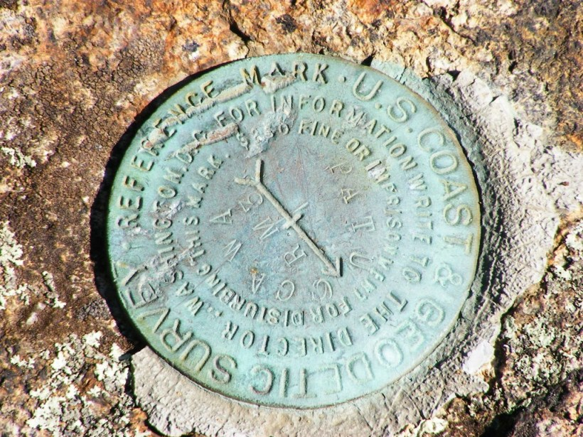 Marker on North Mtn., Pawtuckaway State Park: can you find it?