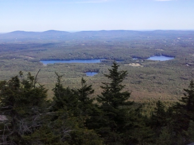 Wapack Range. L-R: North Pack Monadnock, Pack Monadnock, Temple Mountain Ridge, Kidder.