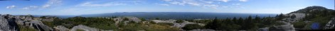 Monadnock panorama, from the junction of Red Spot and Pumpelly trails.