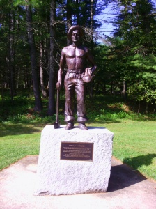 CCC monument, Bear Brook SP (Ellen Kolb photo)