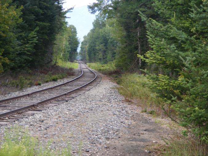 Rail line near Waumbek Junction