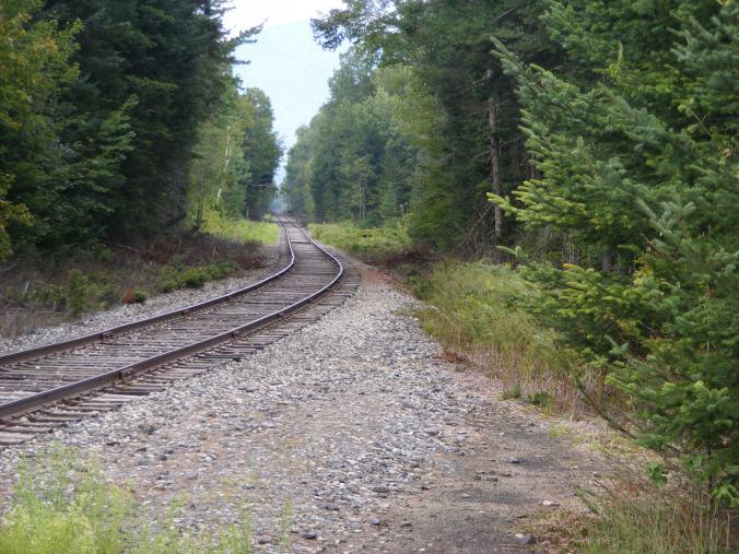 Rail line near Waumbek Junction
