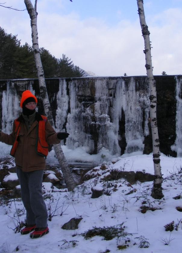 Brenda of Monadnock park staff at reservoir dam