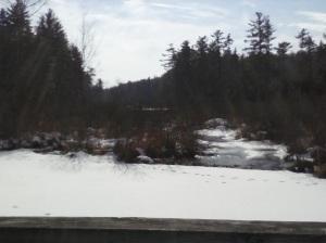 looking north from Bouchard Bridge on Beaver Brook