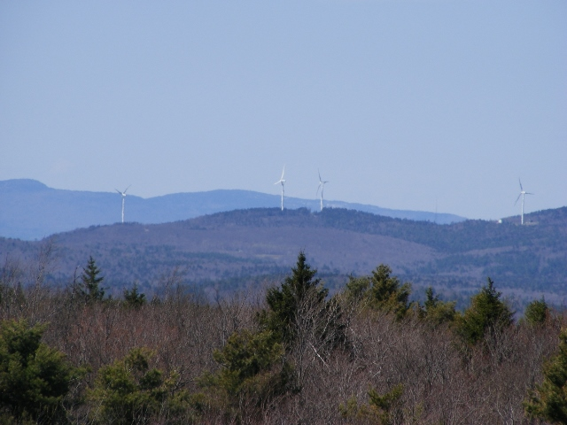 Wind farm in Lempster, seen from the fire tower