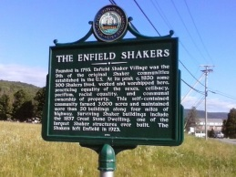 Marker honoring the Enfield NH SHakers