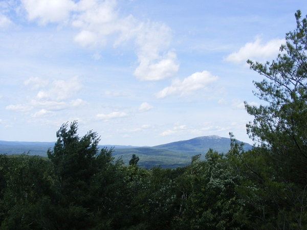 Mt. Monadnock, seen from Little Monadnock's summit ridge.