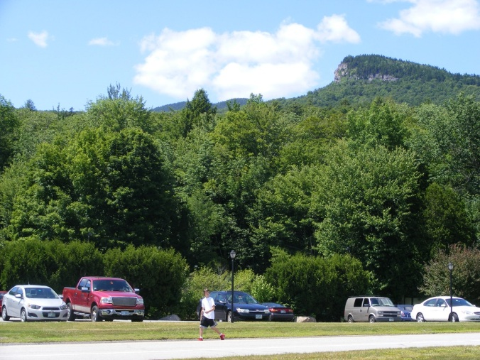 Mt. Pemi seen from U.S. 3 in Lincoln. Trailhead is off of I-93 in Franconia Notch; follow signs for The Flume.