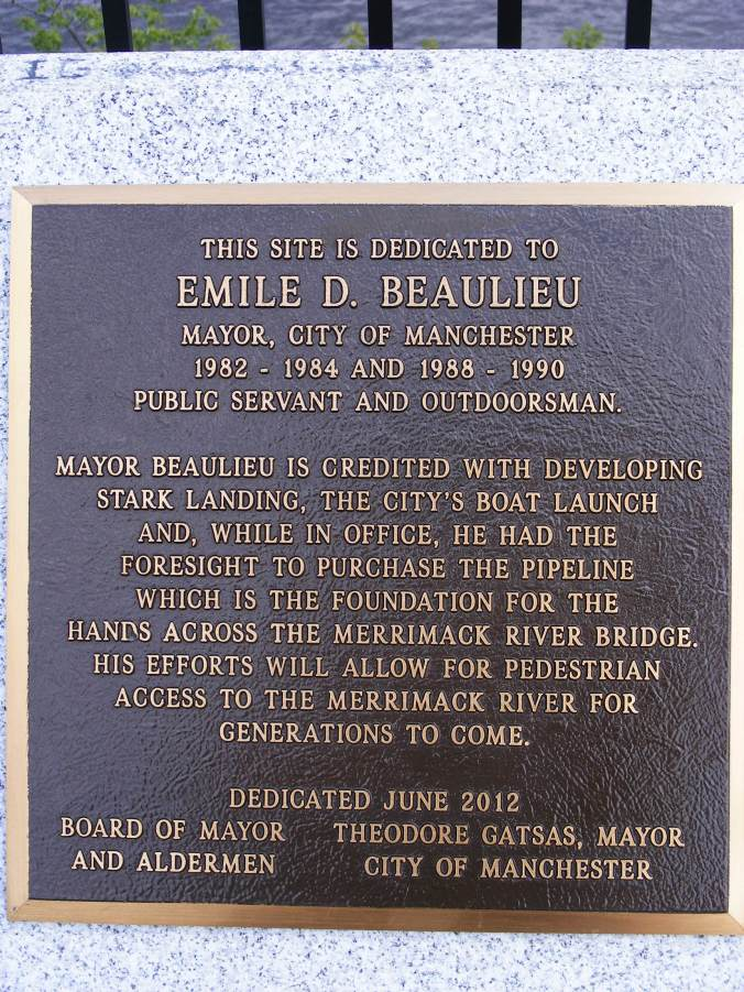 It's good to see this acknowledgment of one of the people who made the Hands Across the Merrimack bridge project happen.