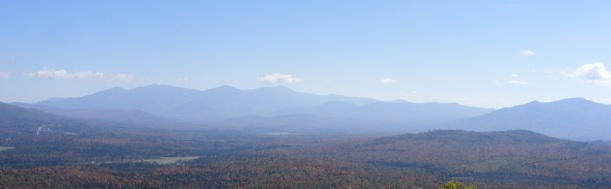 View of the Presidentials and Mt. Martha (right) from Weeks State Park auto road, Lancaster NH