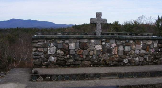 Cathedral of the Pines; Mt. Monadnock in background. E. Kolb photo.
