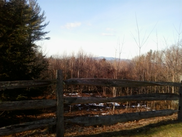 Temple Road in Sharon; Mt. Monadnock in the distance