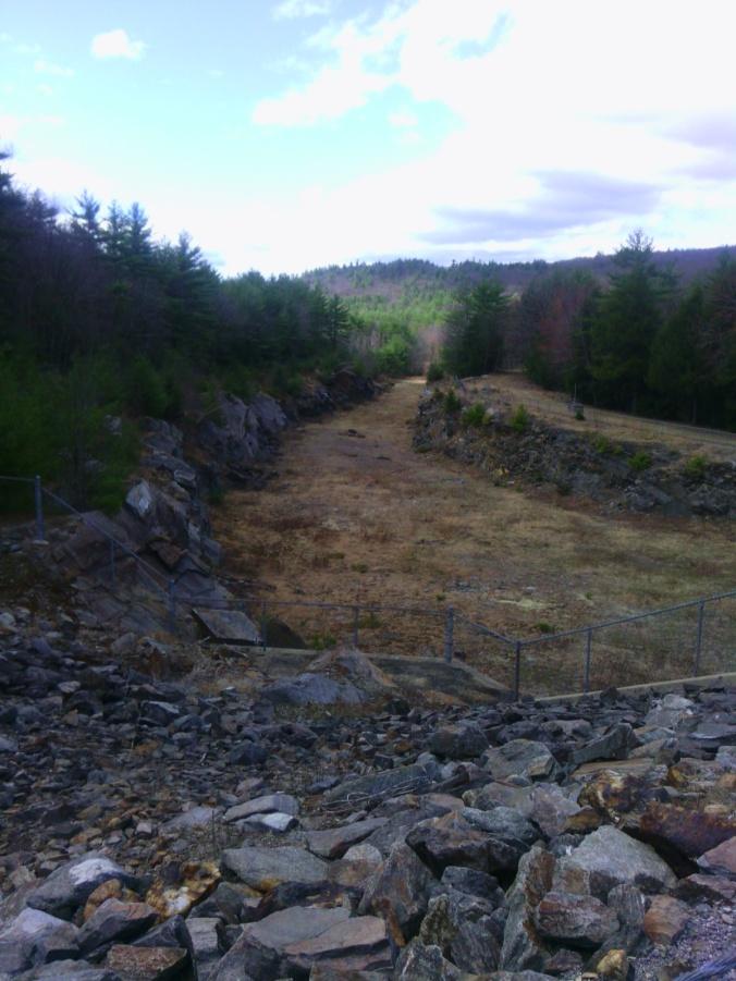 Everett Dam spillway in a very dry spring