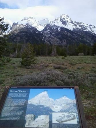 Teton Glacier seen from the bike path along Teton Road.