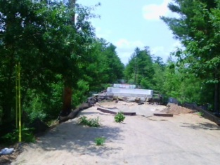 July 2015: the fence is gone, and this will someday be the approach to a river crossing for pedestrians and bicyclists.