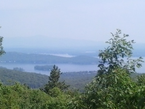 A view from not-quite-the-top of Mount Major in Alton, NH