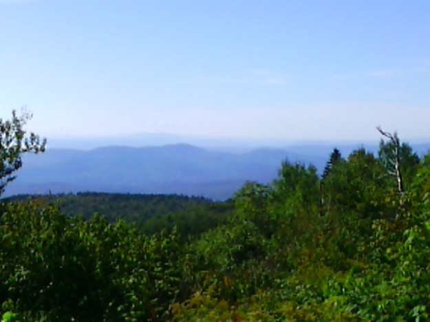 A tantalizing view from partway up the trail.