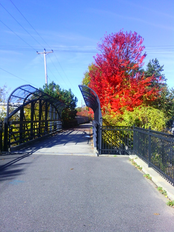 Second Street bridge, near east end of Piscataquog Rail Trail.