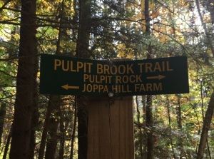 trail sign, Bedford NH