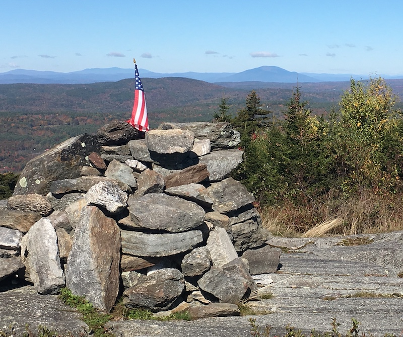 Silver Mountain summit cairn NH