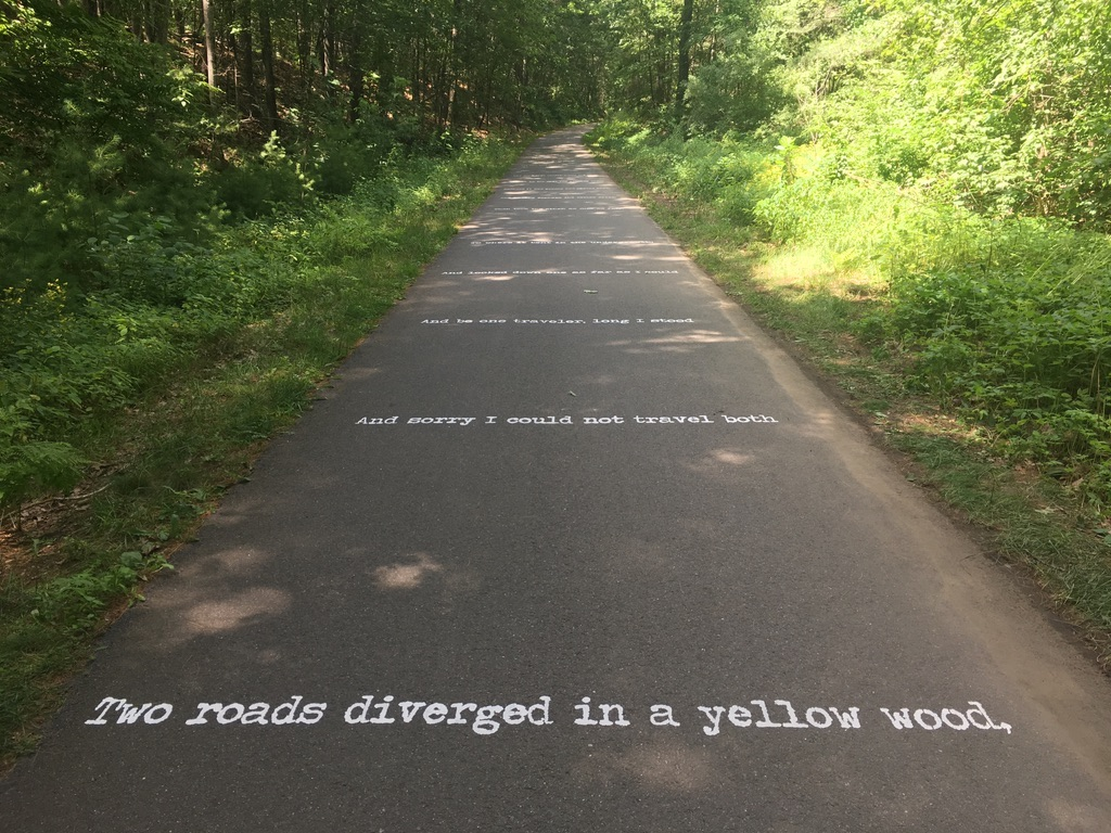Robert Frost poem on Derry rail trail NH
