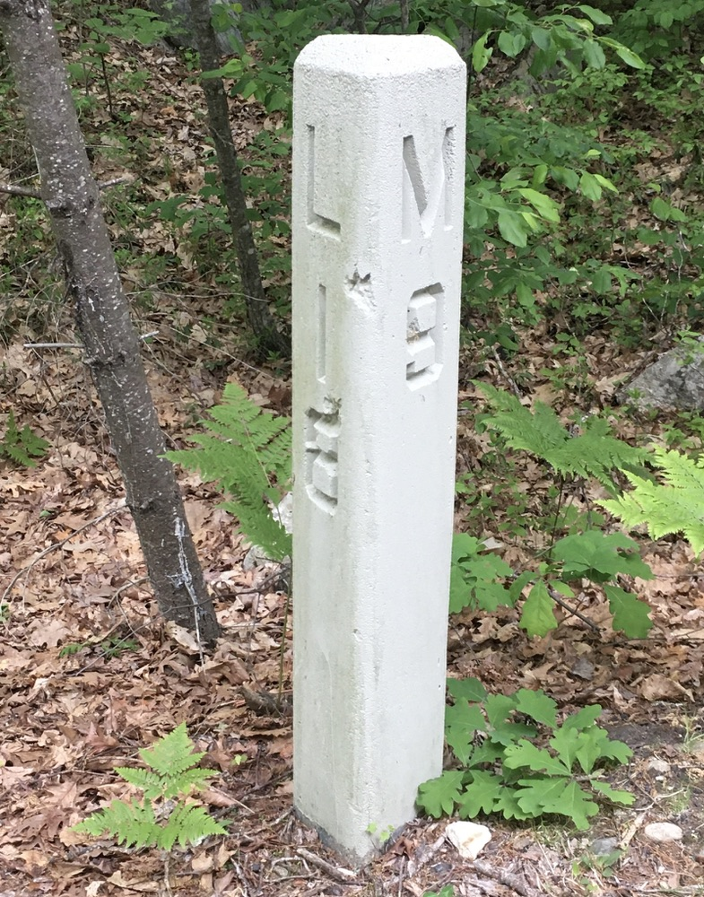 Mile marker, Londonderry Rail Trail NH
