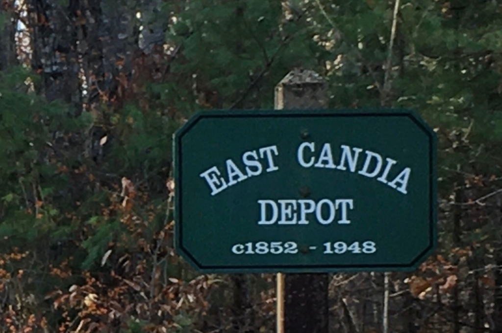 East Candia New Hampshire railroad depot sign