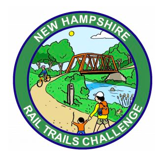 emblem of New Hampshire Rail Trails Challenge