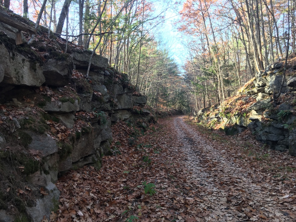 rail trail granite walls